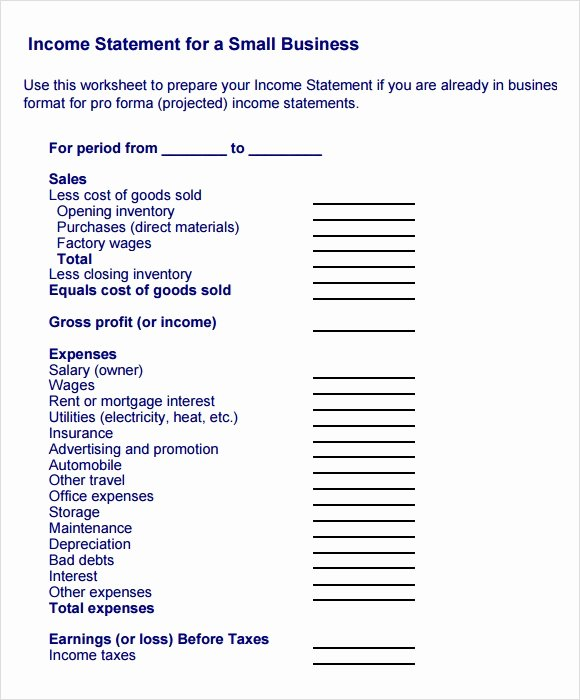 Small Business Financial Statement Template Luxury Small Business Financial Statement Template Invitation