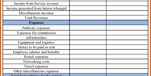Small Business Financial Statement Template Unique Free Business Financial Statement Template Financial