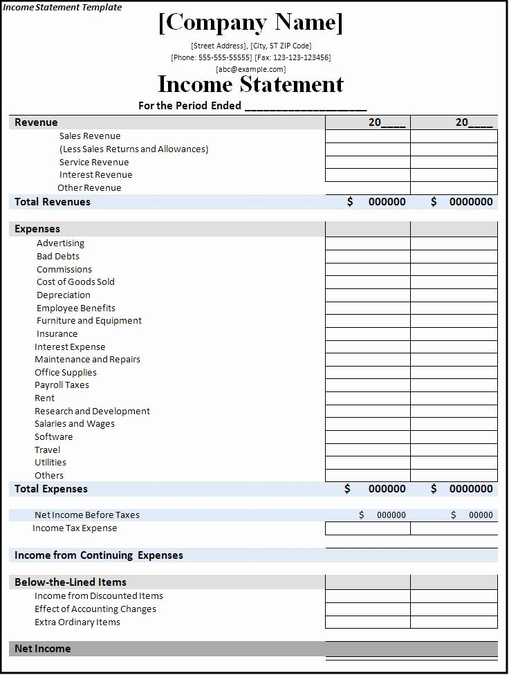 Small Business Income Statement Template Beautiful 7 Free In E Statement Templates Excel Pdf formats