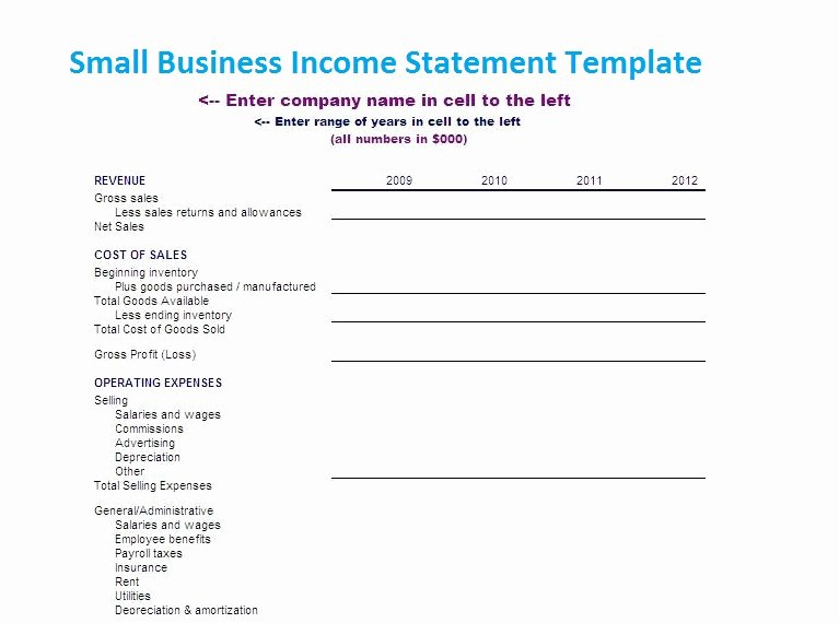 Small Business Income Statement Template Best Of Small Business In E Statement Template