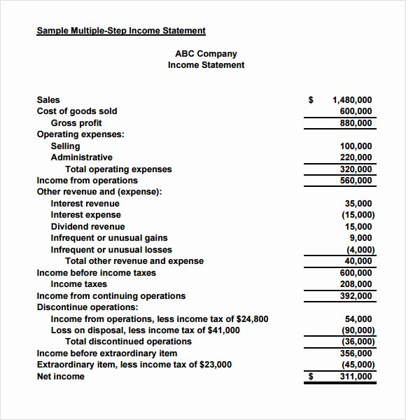 Small Business Income Statement Template Elegant Sample In E Statement for Small Business Driverlayer