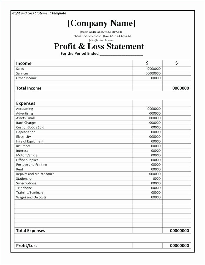 Small Business Income Statement Template Luxury Small Business In E Statement Template