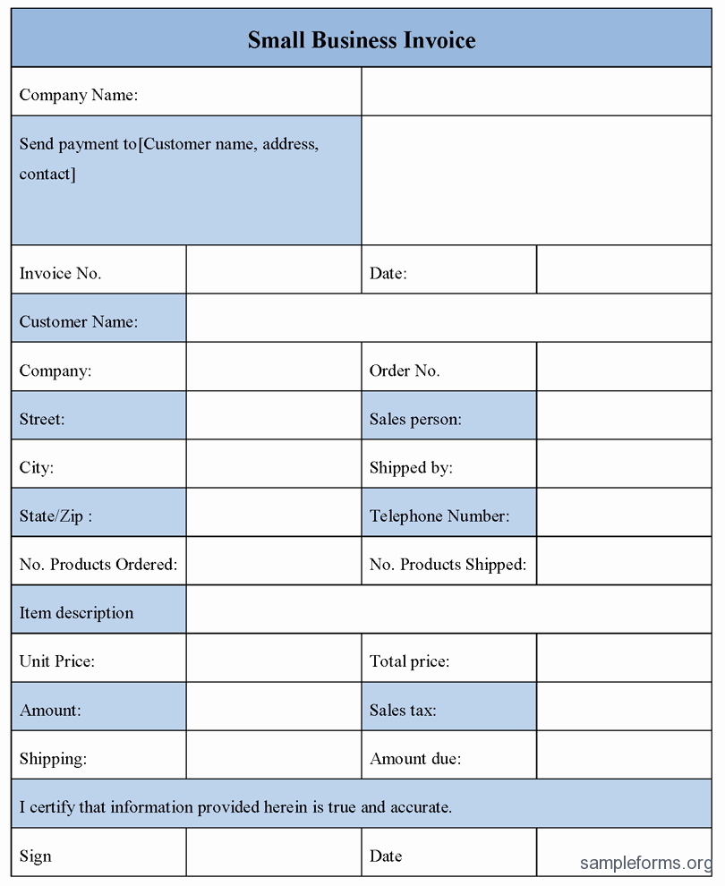 Small Business Invoice Template Best Of Small Business Invoice Sample forms