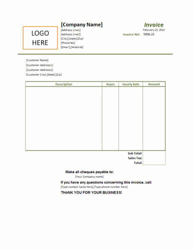 Small Business Invoice Template Elegant 25 Free Service Invoice Templates [billing In Word and Excel]