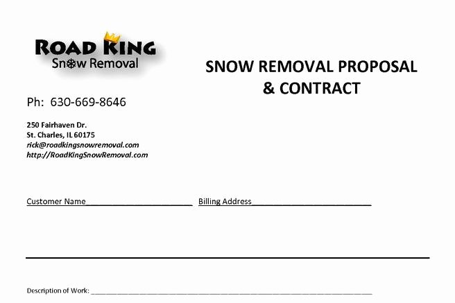 Snow Removal Bid Template Best Of 20 Snow Plowing Contract Templates Free Download