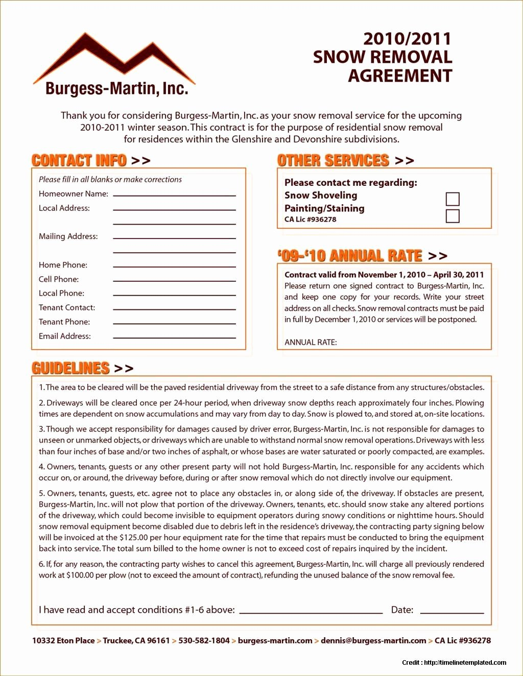 Snow Removal Contracts Template Unique Snow Removal Contract Sample form Resume Examples