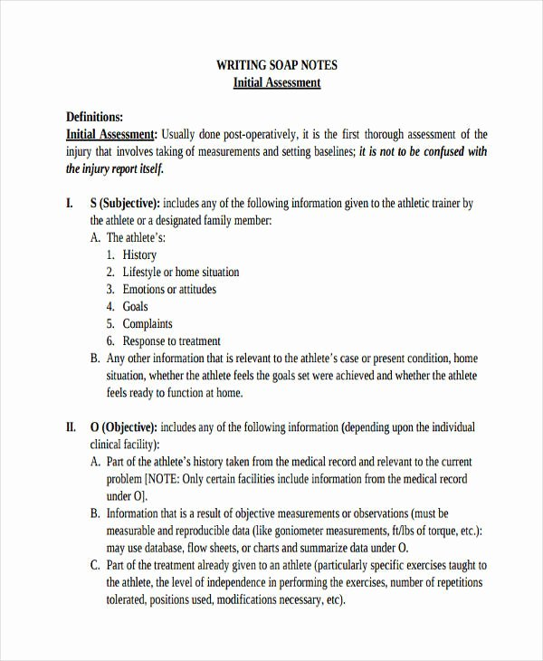 Soap Note Template Pdf Unique 14 soap Note Examples Pdf