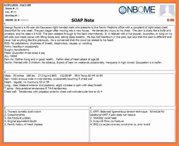 Soap Note Template Word Beautiful 9 soap Notes Template