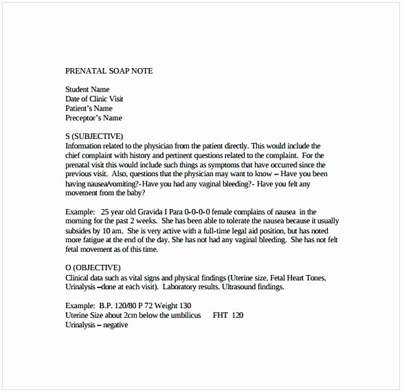 Soap Note Template Word Elegant soap Note Template Word
