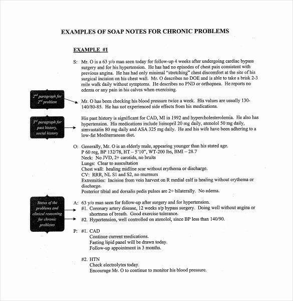 Soap Note Template Word Fresh soap Note Template – 9 Free Word Pdf format Download