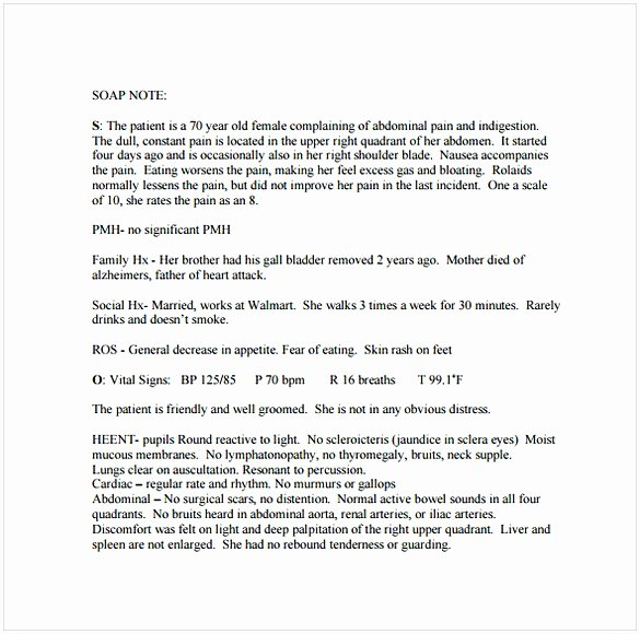 Soap Note Template Word Lovely soap Note Template Word