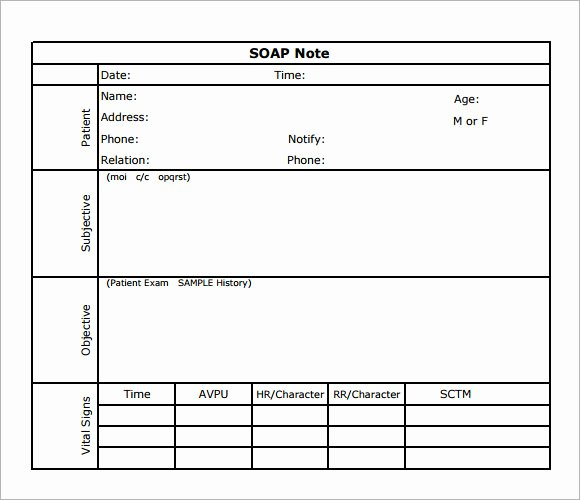Soap Note Template Word New soap Note Template 7 Download Free Documents In Pdf