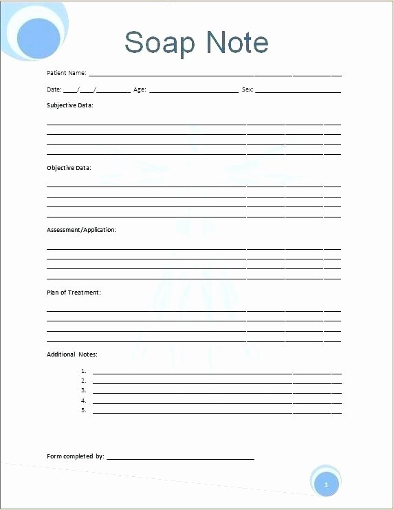 Soap Note Template Word Unique soap Note Template Word Blank with Sample Example How to