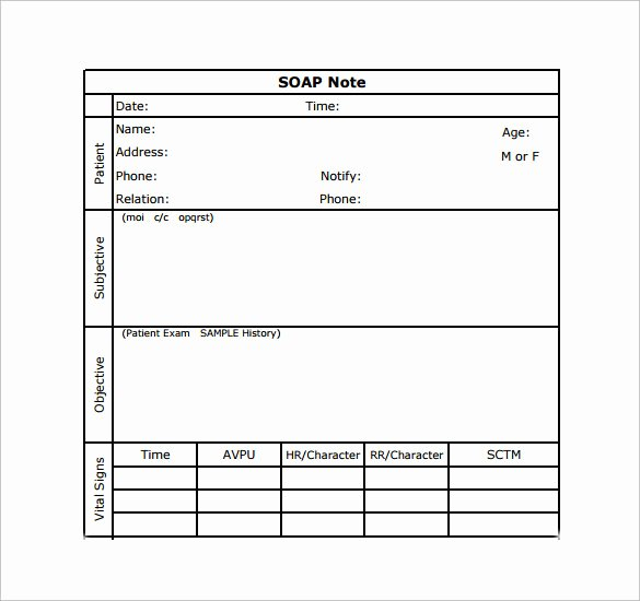 Soap Progress Notes Template Elegant 15 soap Note Examples Free Sample Example format