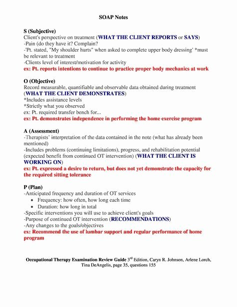 Soap therapy Note Template Inspirational Free soap Notes Template Massage therapy Erreport732