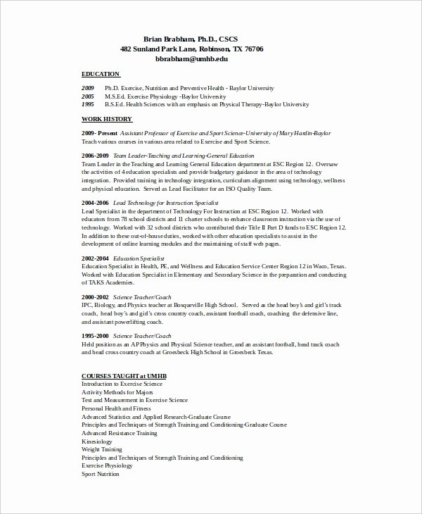 Soccer Coach Resume Template Lovely 10 Coach Resume Templates Pdf Doc