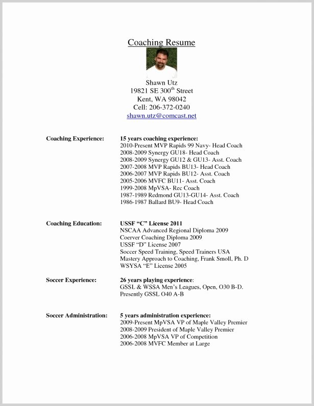 Soccer Coach Resume Template Luxury Colorful Football Player Profile Template Example