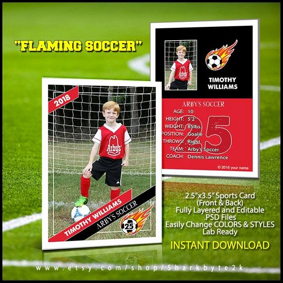 Soccer Player Cards Template Awesome 2017 soccer Card Template Perfect for Trading Cards for Your