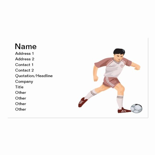 Soccer Player Cards Template Beautiful soccer Player Double Sided Standard Business Cards Pack
