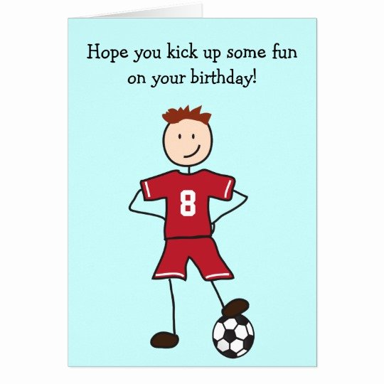 Soccer Player Cards Template Best Of soccer Player Happy Birthday Card