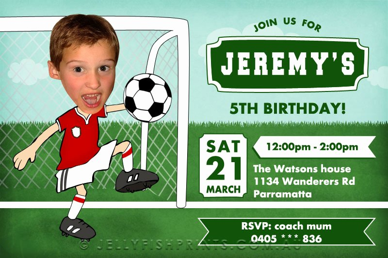 Soccer Player Cards Template Elegant soccer Birthday Invitations Printable