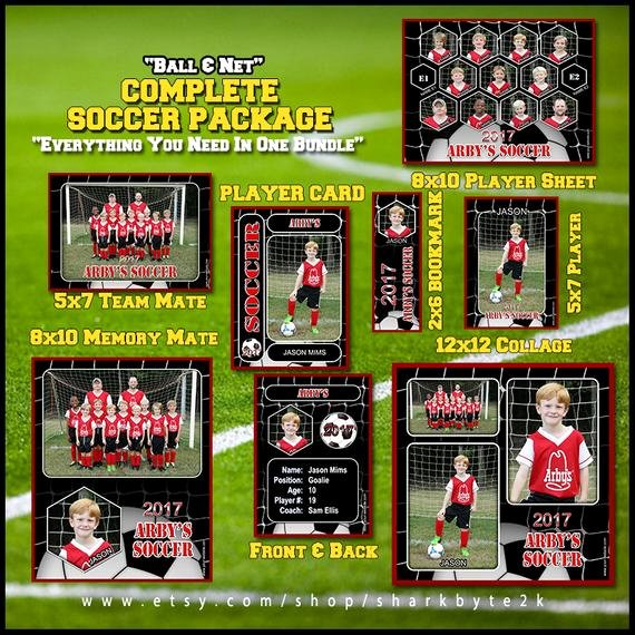 Soccer Player Cards Template Fresh 2017 Plete soccer Football Template Package Includes
