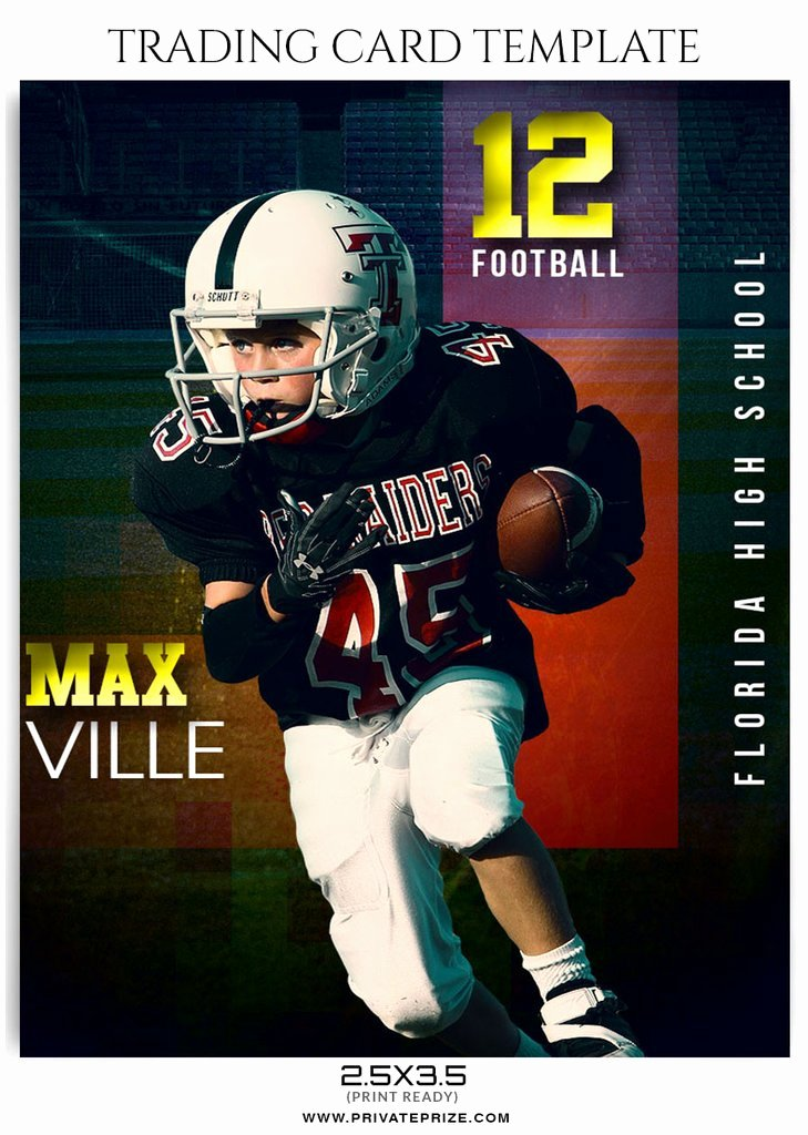 Soccer Player Cards Template Fresh Max Ville Sports Trading Card Template
