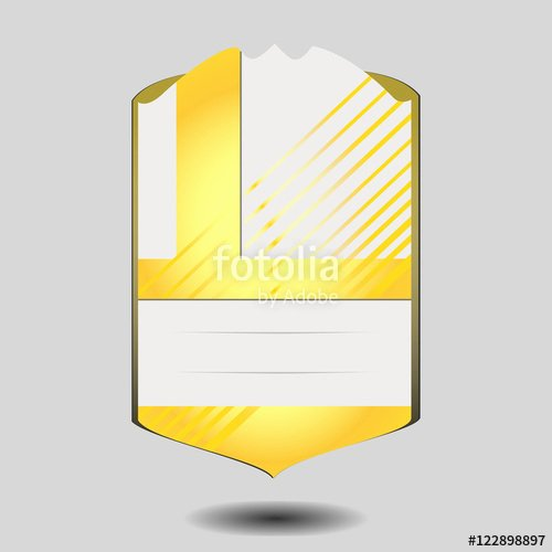 "Soccer Player Cards Template Lovely ""vector Football Player Card Template isolated On Gray"
