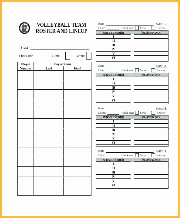 Soccer Player Cards Template Luxury Blank Roster Sheet – Aoteamedia