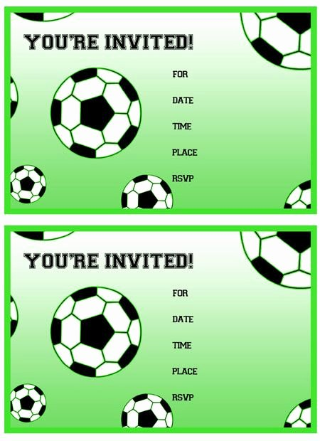 Soccer Player Cards Template New Free Printable soccer Birthday Party Invitations From