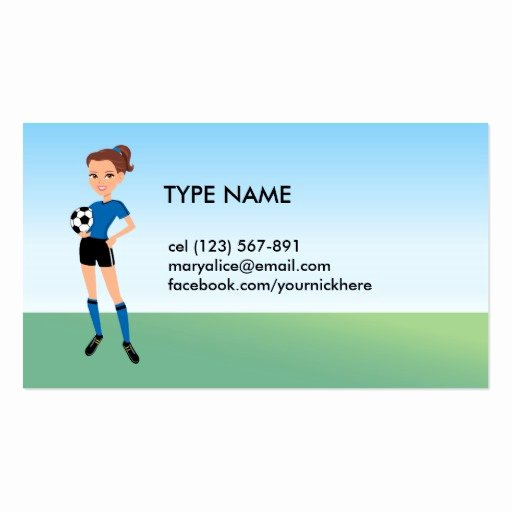 Soccer Player Cards Template New Girl S soccer Player Personalised