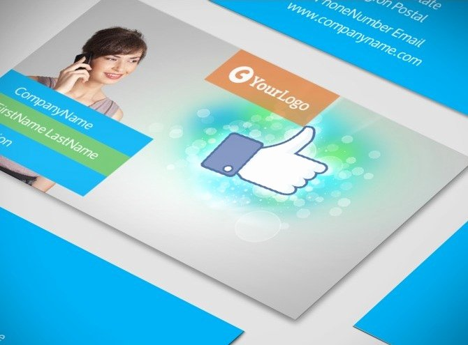 Social Media Business Card Template Awesome social Media Marketing Consultants Business Card Template