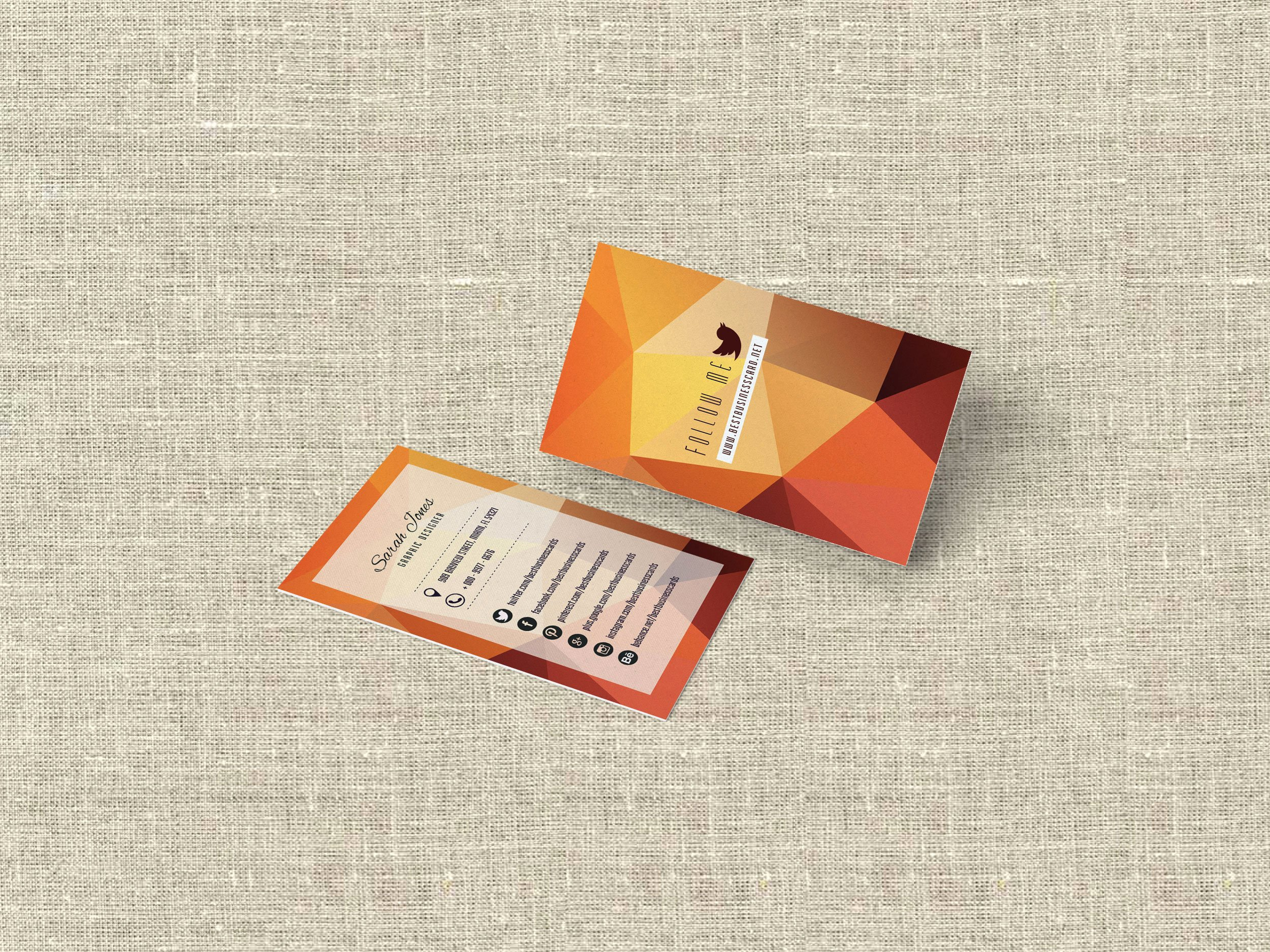Social Media Business Card Template Beautiful 3 Free social Media Business Cards