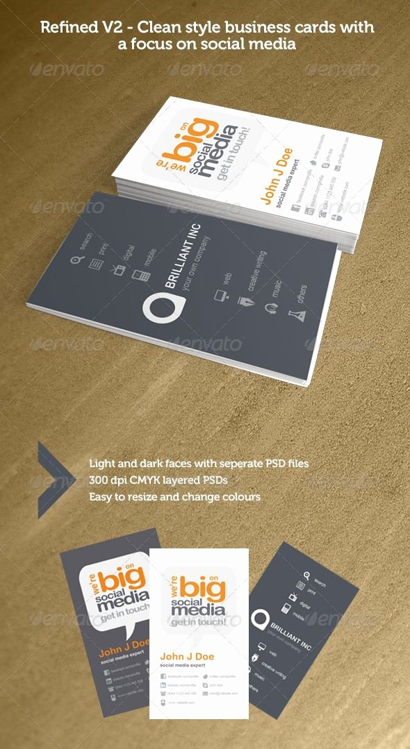 Social Media Business Card Template Best Of 180 Best Images About Print Templates On Pinterest