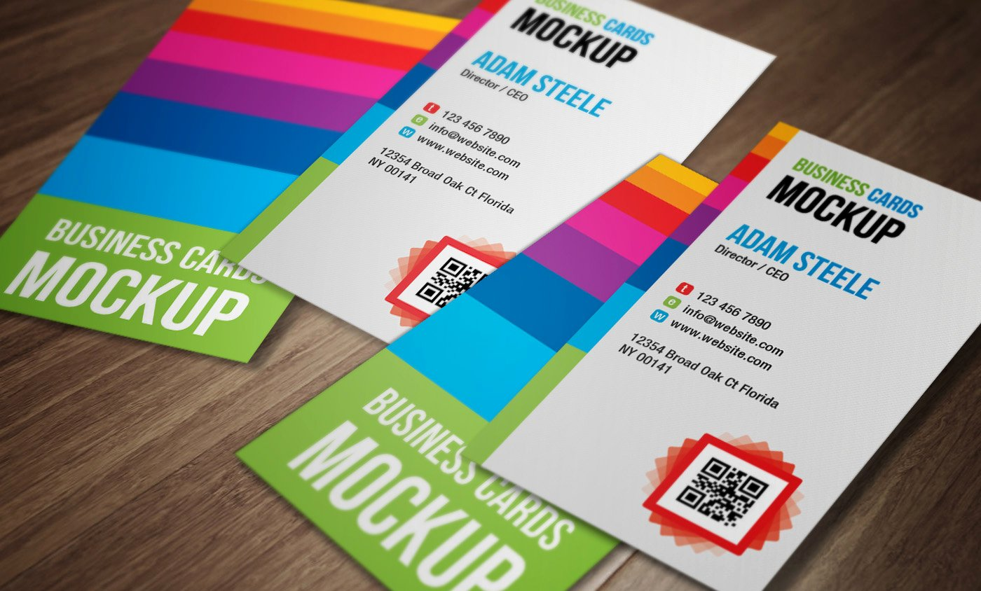 Social Media Business Card Template Best Of Free Vertical Business Cards Psd Mockup