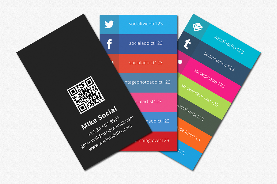 Social Media Business Card Template Best Of social Media Cards