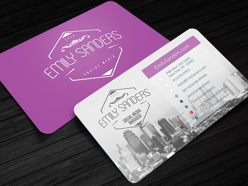 Social Media Business Card Template Fresh social Box social Media Business Card Template by