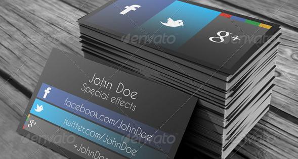 Social Media Business Card Template Fresh social Media Business Cards Fragmatfo