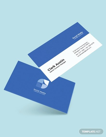 Social Media Business Card Template Inspirational Free Simple Business Card Template Download 181 Business