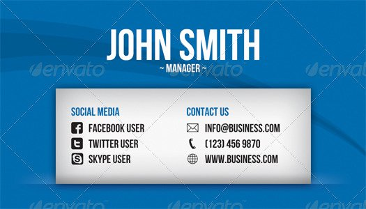 Social Media Business Card Template Inspirational social Media Business Card by Artnook