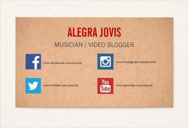 Social Media Business Card Template Lovely 39 social Media Business Card Templates Free & Premium