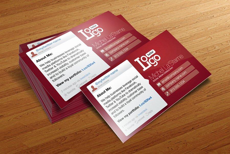 Social Media Business Card Template Lovely 50 Best Free Psd Business Card Templates Download