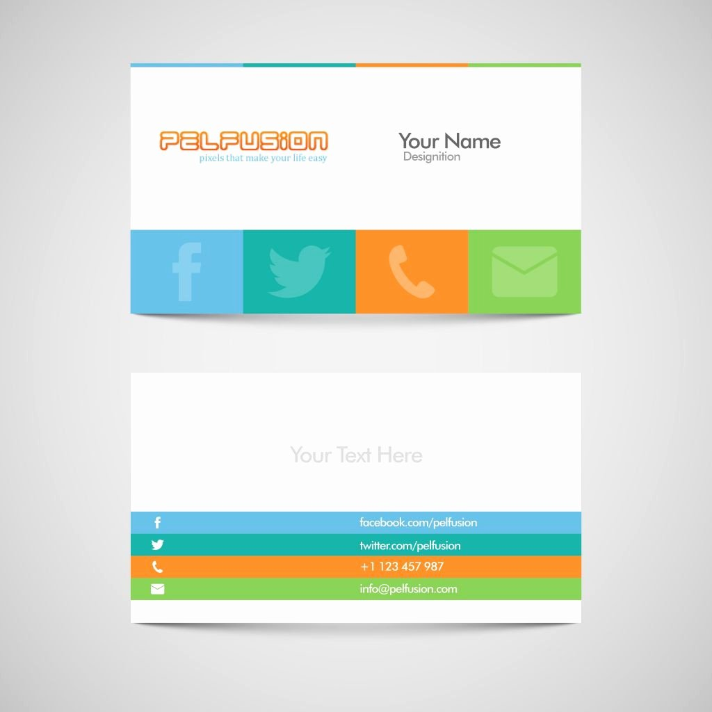 20 free blank business card template word new sm vc free social media business card vector format