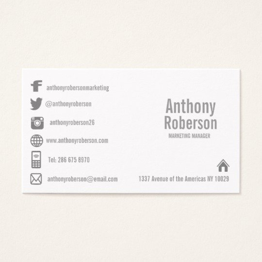 Social Media Business Card Template Luxury Custom Template with social Media Symbols Business Card