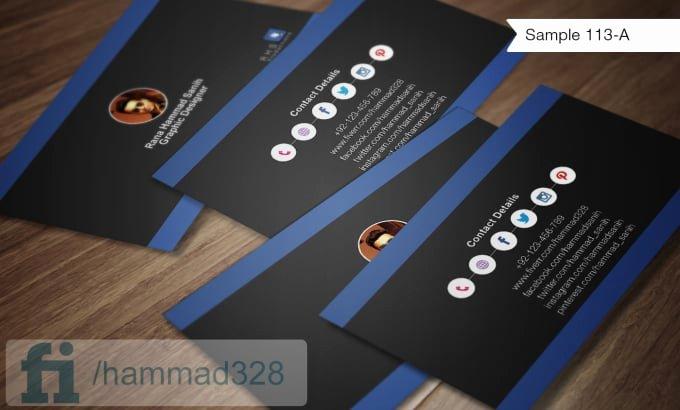 Social Media Business Card Template Luxury Make social Media Business Cards by Hammad328