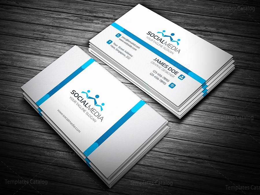 Social Media Business Card Template Luxury social Media Business Card Template Template Catalog