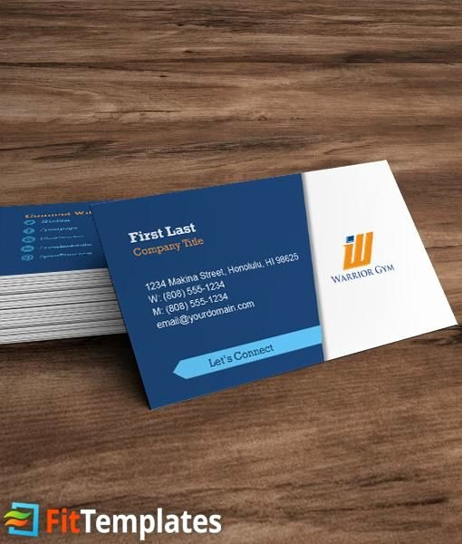 Social Media Business Card Template New Health Club Business Card Template with social Media Icons