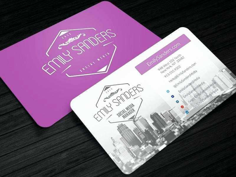 Social Media Business Card Template Unique social Media Cards Icons for Business In Conjunction with