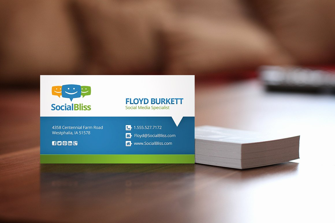 Social Media Business Cards Template Awesome social Media Business Card Business Card Templates On