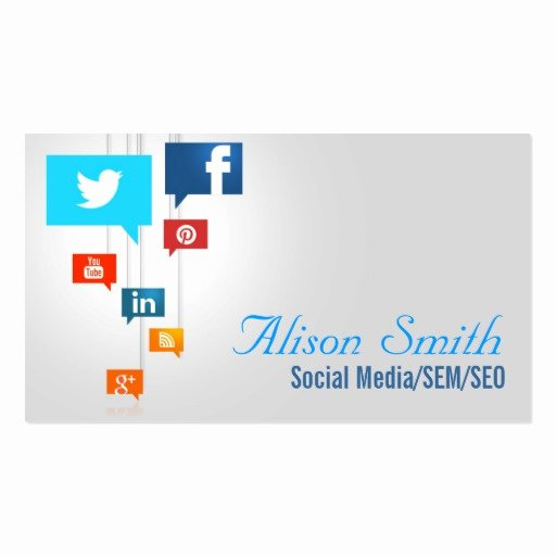 Social Media Business Cards Template Awesome social Media Business Card Templates